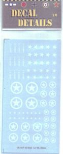 US-107 US Stars 15 & 20 mm armor decals - stars